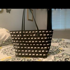 Kate spade black and white tote